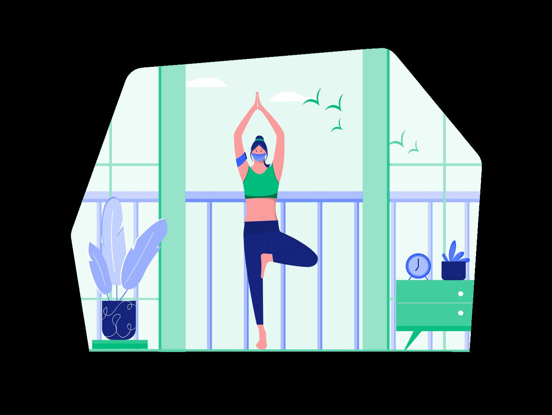 yoga at home skyline